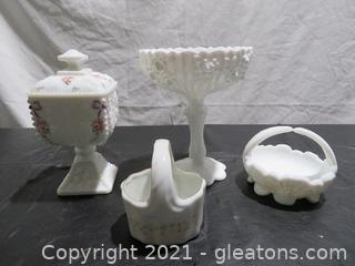 Milk Glass and China Decor