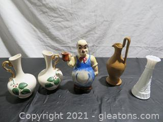 Fun Vases and a Cute Man with a Mug