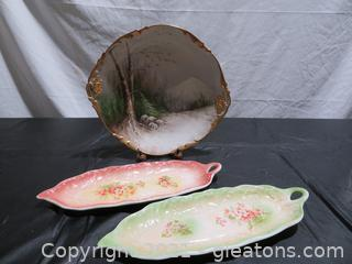Hand Painted Serving Decor Plates