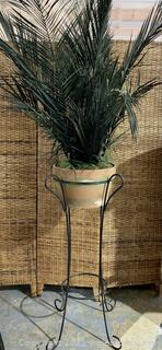 Natural Artificial Fern Planter with Stand