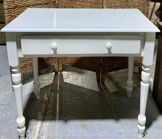 White French Country Console Table