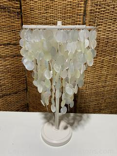 Unique Tiered Seashell Table Lamp