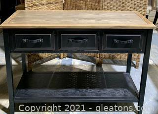 Rustic 3 Drawer Console Table