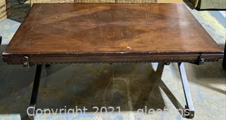 Cross Leg Tressel Coffee Table