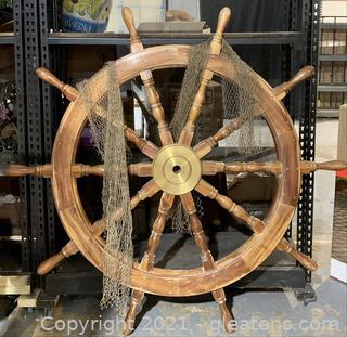 Antique Maritime Ship Wheel