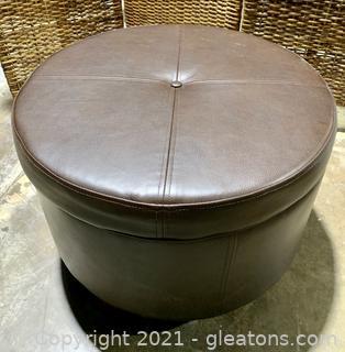 Tufted Round Storage Ottoman