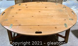 Amish Ledged Knotty Pine Coffee Table
