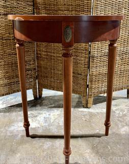 Bombay Demilune Console Hall Table