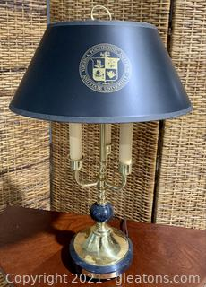 Virginia Polytechnic Institute Commemorative Desk Lamp