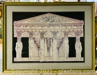 Temple of Zeus Framed Print