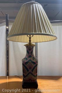 Pink and Blue Heyward House Chinoiserie Table Lamp