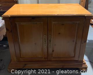Pine Side Table/Cabinet