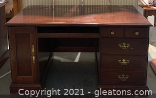 Cherry Desk with Brass Accents