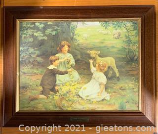 "Framed ""Spring Playmates"" by Arthur Eisley"