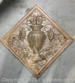 Fruit and Urn Metal Wall Art