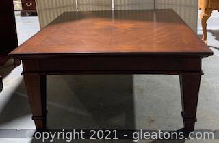 Bernhardt Furniture Starburst Inlay Coffee Table