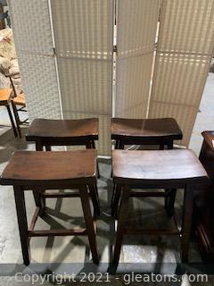 Four Sturdy Bar Seats/Stools