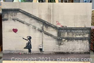 There is Always Hope Banksy Street Art Canvas