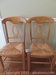 Pottery Barn Farmhouse Table Chairs (2)