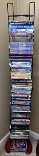 DVD Tall Rack with An Assortment of DVD's