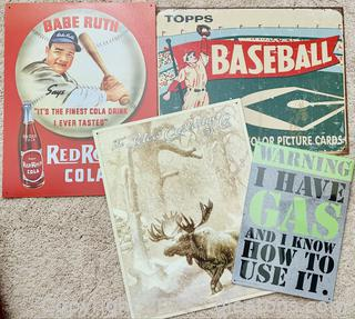 Collectable Metal Sign Lot