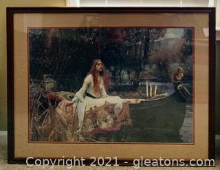 Beautiful Lady of Shalott Print