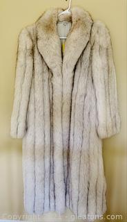 Luxurious Women's Full Length Fur Coat