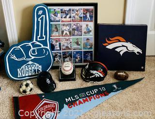 Colorado Rockies/Broncos Memorabilia Lot