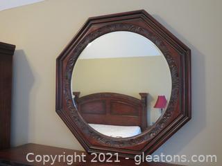 Beautiful Haverty's Octagonal, Beveled Mirror