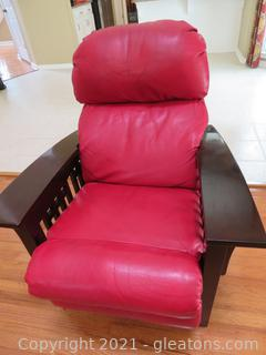 Red Leather Lazy Boy Recliner
