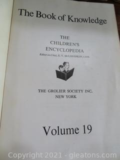 The Book of Knowledge Encyclopedias Published in 1956
