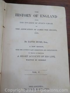 History of England Volumes 2 -5