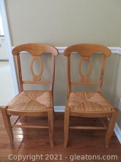 Pottery Bam Farmhouse Table Chairs (2)