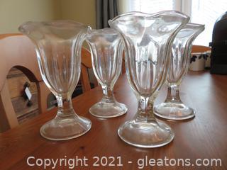 Four Parfait Glasses