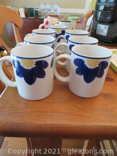 International Tableworks Blue Napoli Coffee Mugs (7)