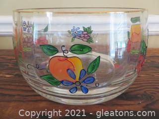 Crystal Clear Venetian Fruit Bowl