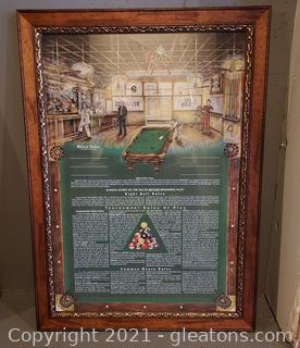 Pool House Rules Framed Print