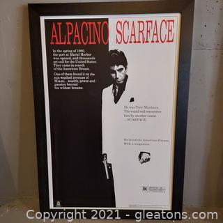 Al Pacino/ Scarface Framed Movie Poster