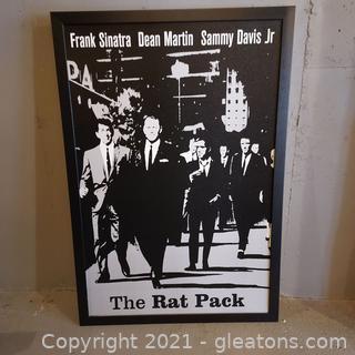 Framed Print of Frank Sinatra, Dean Martin , Sammy Davis Jr. The Rat Pack