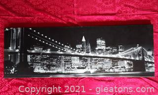 Stunning Canvas Print of The Brooklyn Bridge at Night