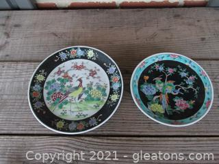 Two Decorative Asian Plates