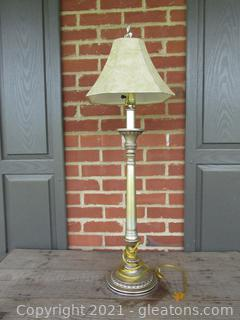 Buffet Lamp with Shade 36 inches tall [tested works]