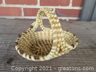 Small South Carolina Sweet Grass Basket