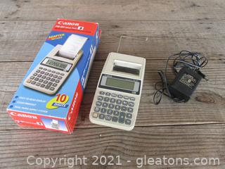 Canon P8-DV Palm size printing Calculator  /tested works