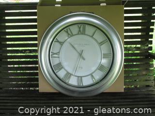 "Better Homes & Gardens 28"" Modern Wall Clock / New in Box"