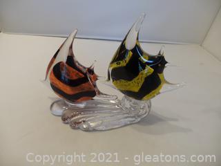 Murano Glass Angel Fish Figurfine