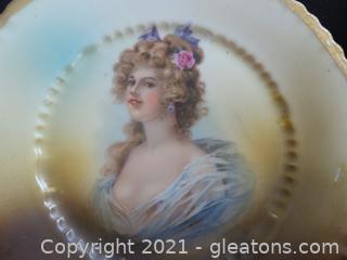 Porcelain Portrait Plate Victoria Austria