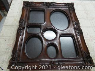 Multi picture frame with 7 spaces