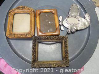 Lot (4) miscellaneous picture frames.