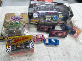 Lot new and older hotwheels